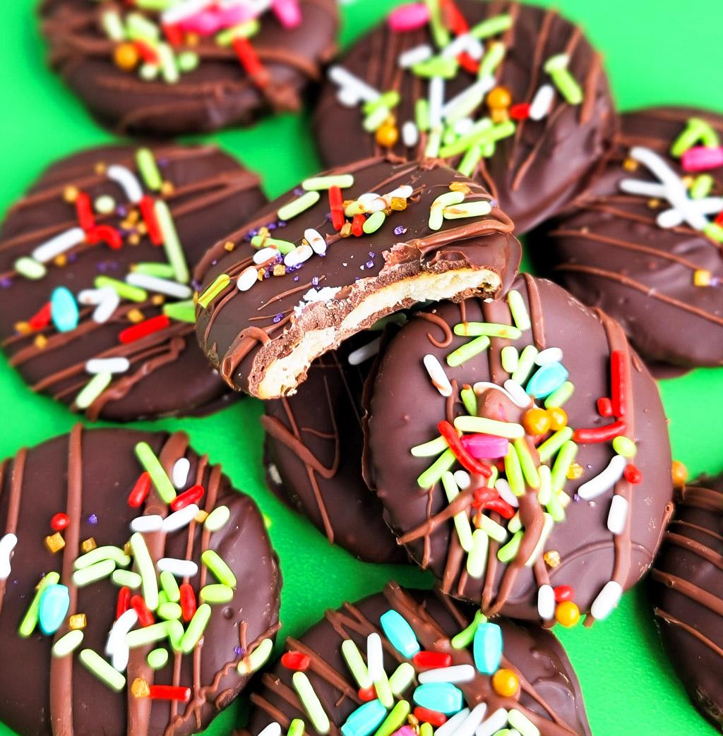 Easy 3-Ingredient Thin Mint Cookies