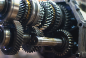 New transmission gears in a car in Hillside, Illinois