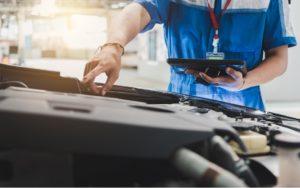 Drive shaft repair on a vehicle in Oak Brook, Illinois