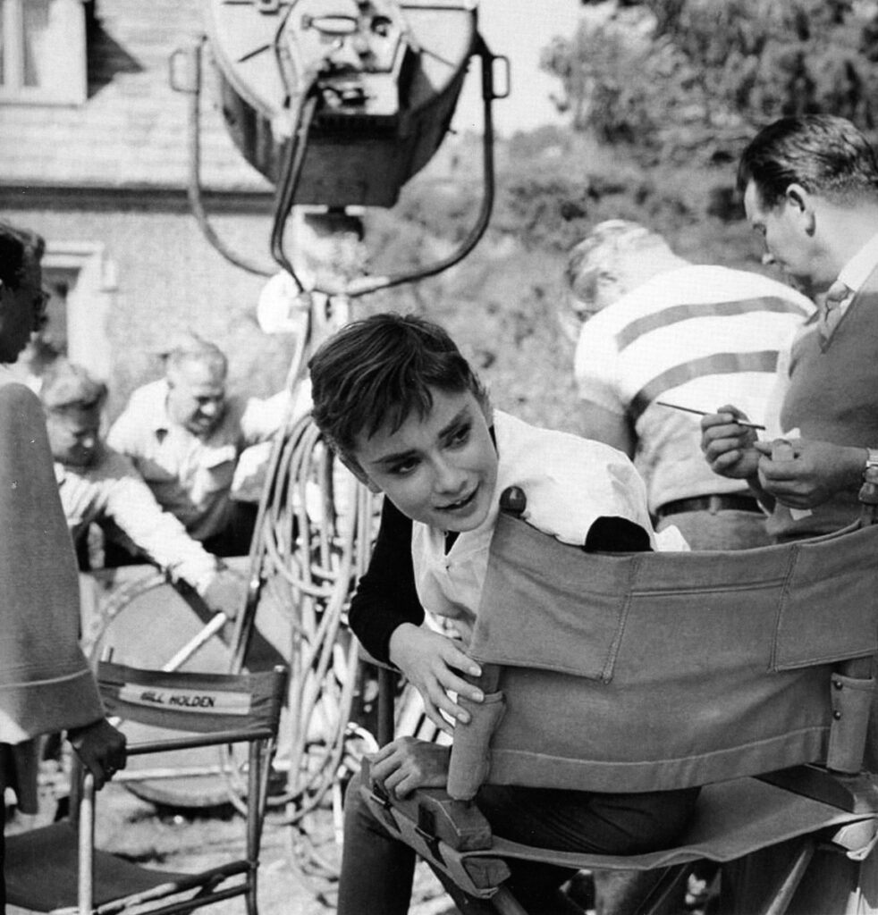 Audrey Hepburn behind the scenes Sabrina