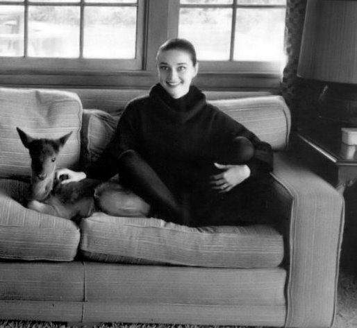 Audrey Hepburn with Pippin