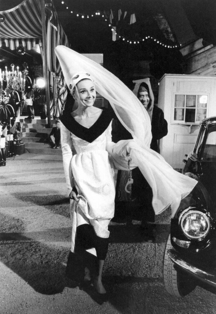 Audrey Hepburn on the set of Paris When It Sizzles