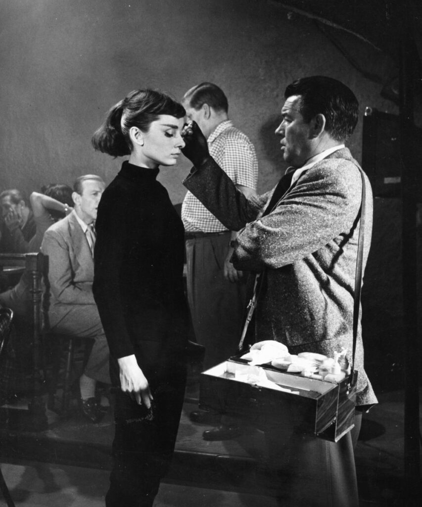Audrey Hepburn Behind the scenes of Funny Face