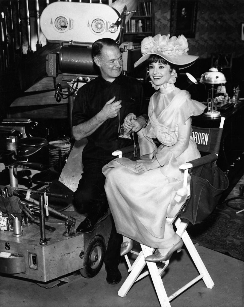 Audrey Hepburn during filming My Fair Lady