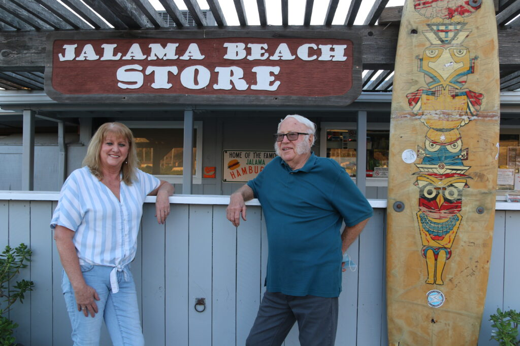 Don & Linda Eittreim, current owners of the Jalama Beach Store