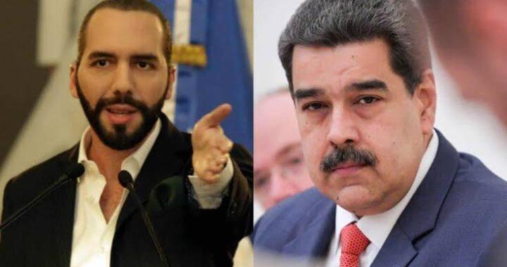 """Bukele se promueve como """"presidente de la paz"""" al igual que Nicolás Maduro en Venezuela."""