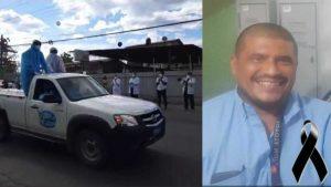 Con globos en manos, personal de salud despide a motorista del hospital de Santa Rosa de Lima que murió de COVID-19