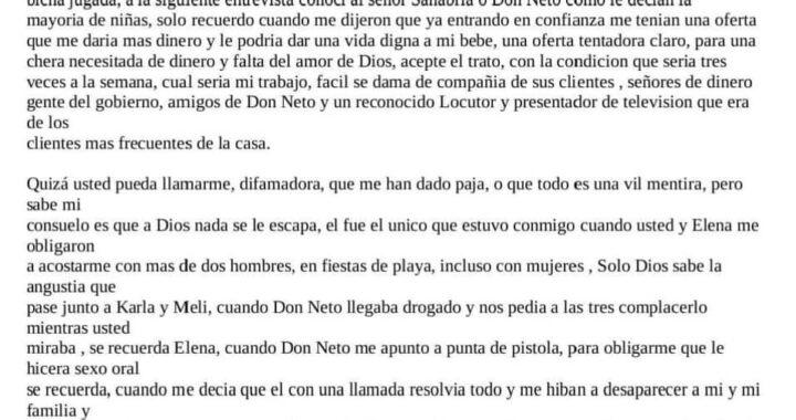 Política | Sale a la luz testimonio de víctima de red de prostitución dirigida por Neto Sanabria, actual Secretario de Prensa.