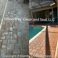 cleaning and sealing pavers before and after example