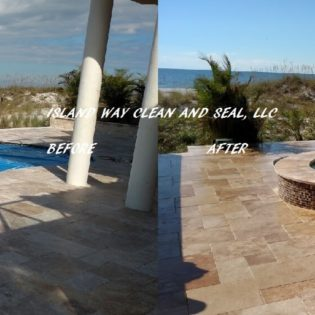 pool deck sealing and cleaning before and after