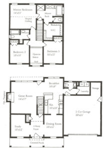The Bogey Colonial Home Floor Plans