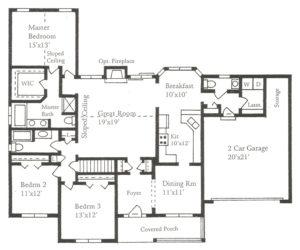 The Nassau Floor Plans Ranch Home