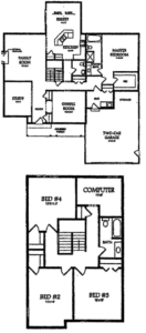 The Mountain View Colonial Home Floor Plans