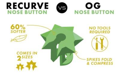 Josh Bowmar Original Nose Button vs. Recurve Nose Button Comparison