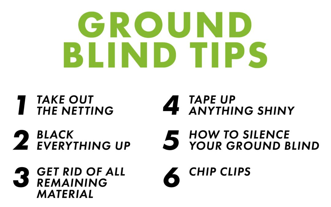 Josh Bowmar's 6 Ground Blind Tips