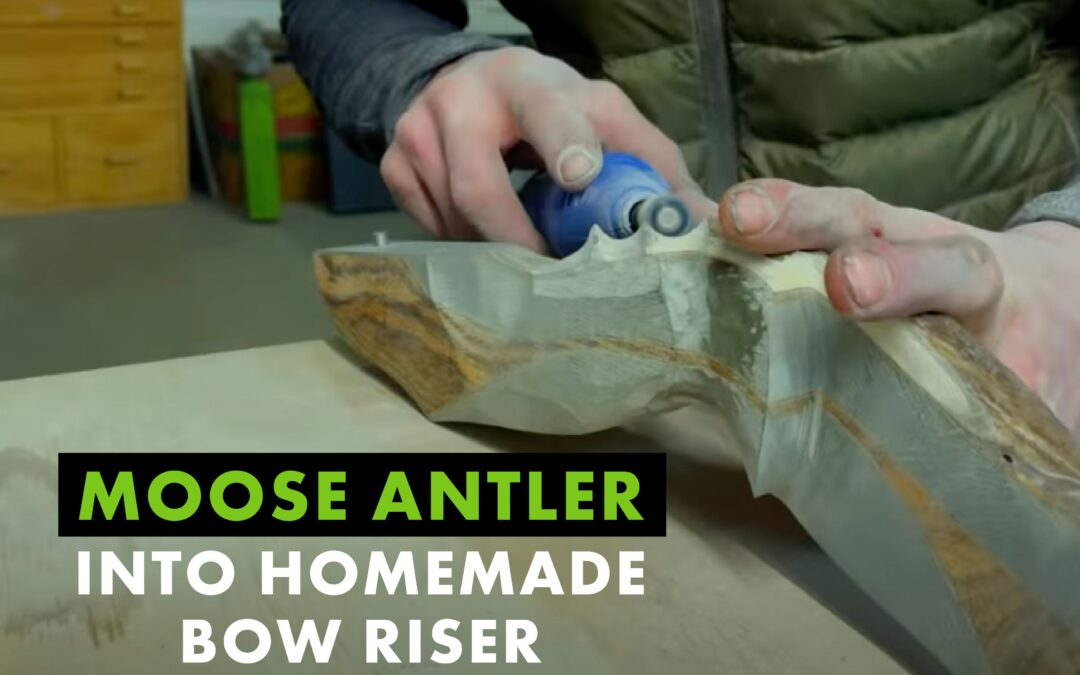 How Josh Bowmar Turns Moose Antler into a Bow Riser