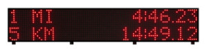 FT-DISPLAY Wireless LED Display Cross Country Clock