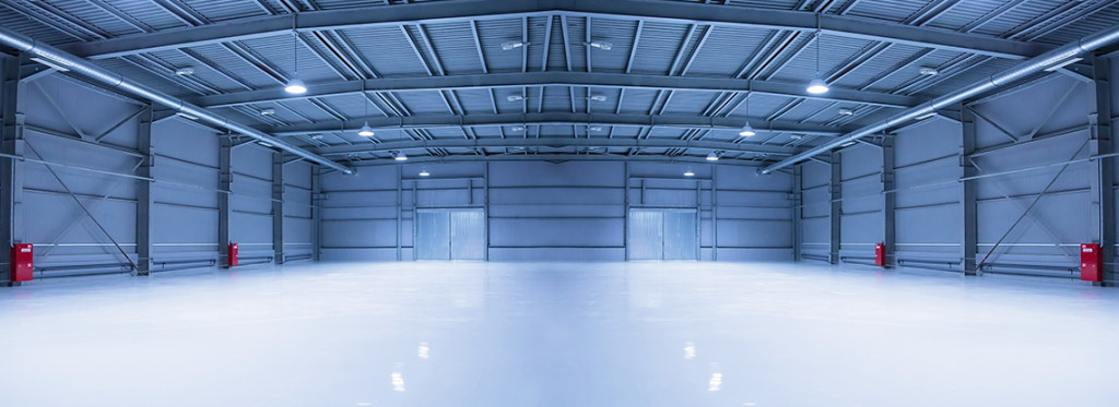 Interior image of industrial warehouse.
