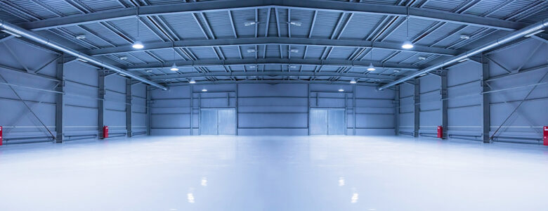 Interior shot of empty comercial warehouse