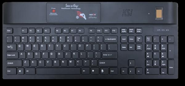 KSI-1700 Secure Clinical Desktop keyboard RFIDeas Crossmatch FIPS 201