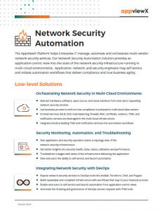Appviewx Network Security Automation