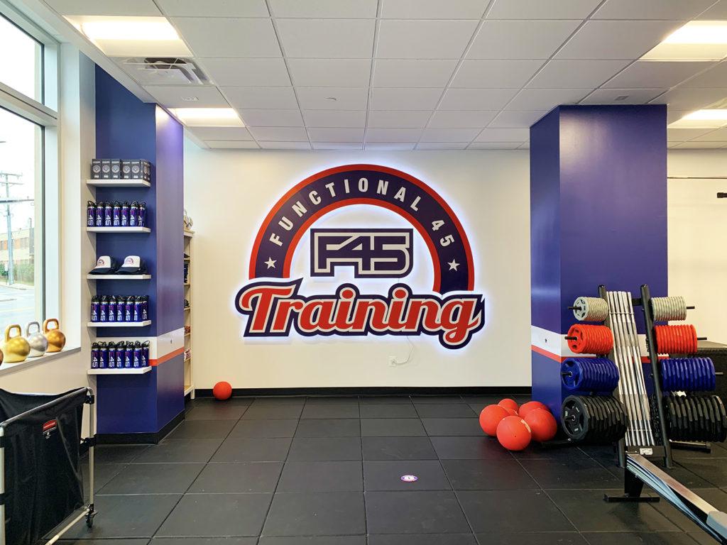 F45 Gym- Branding Wall