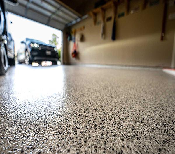 Fort Lauderdale Epoxy Floor in Garage Metal Flake