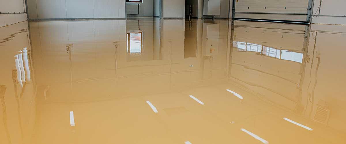 big epoxy garage floor