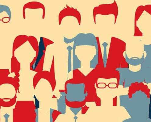 business men women illustration