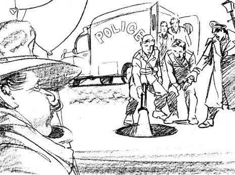 Artist: Lenin Delsol > Style: B&W Pencil > Category: Men, Occupations