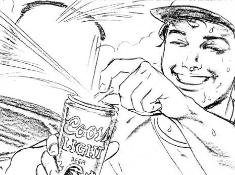 Artist: Lenin Delsol > Style: B&W Pencil > Category: Men, Beer