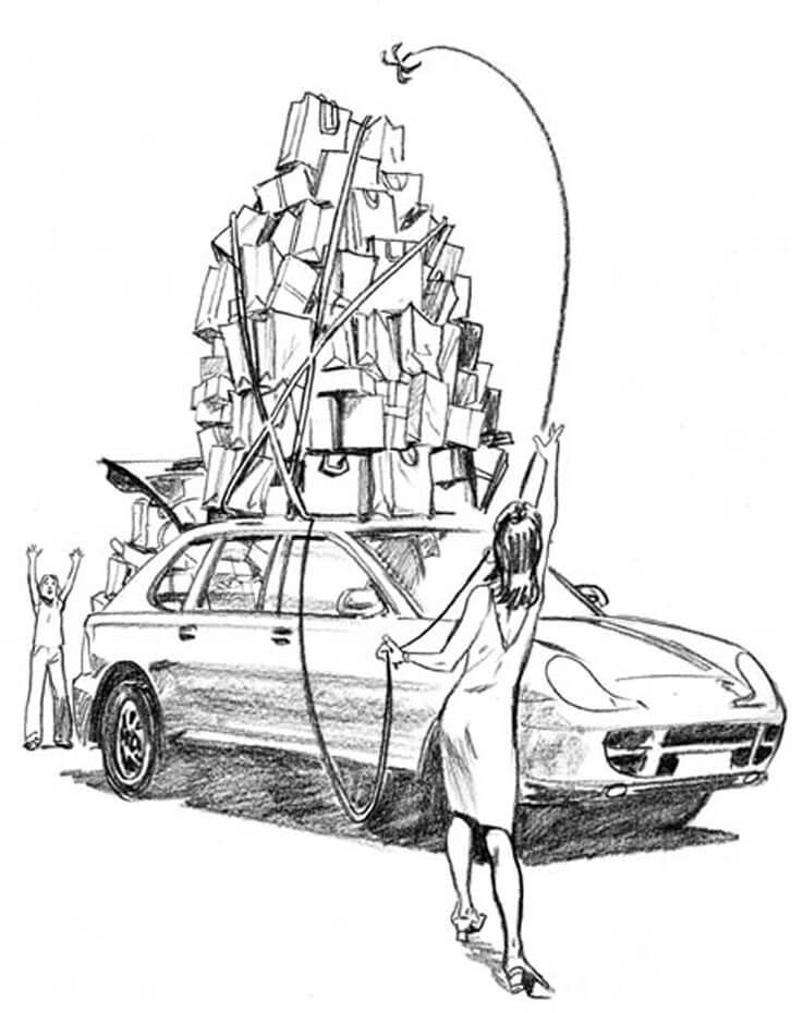 Artist: Lenin Delsol > Style: B&W Pencil > Category: Concepts, Women, Transport