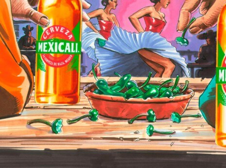 Artist: Lenin Delsol > Style: Traditional Color > Category: Men, Beer
