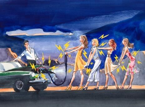 Artist: Lenin Delsol > Style: Watercolor > Category: Women, Beauty, Concepts