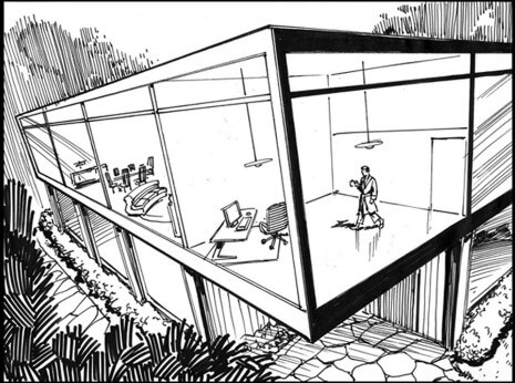 Artist: Lenin Delsol > Style: B&W Ink > Category: Exterior, Interior, Concepts