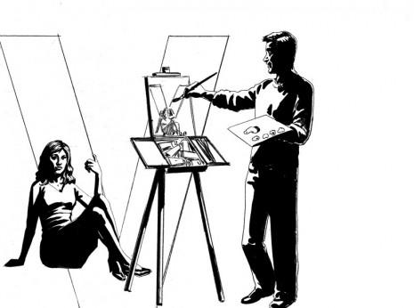 Artist: Lenin Delsol > Style: B&W Noir > Category: People, Occupations