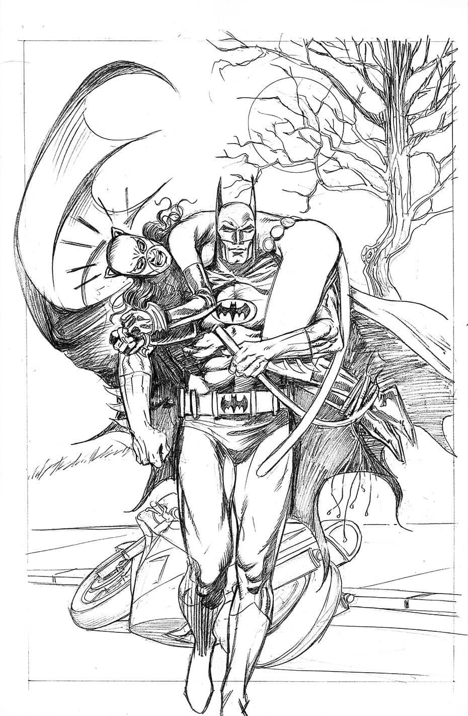 Artist: Lenin Delsol > Style: B&W Pencil > Category: Comics, Superhero