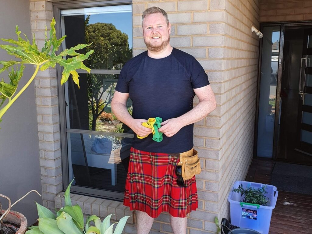 Kilted Cleaners contact hero image