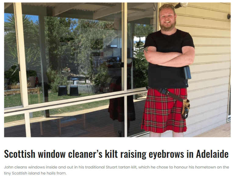 Kilted Cleaners image from Glam Adelaide
