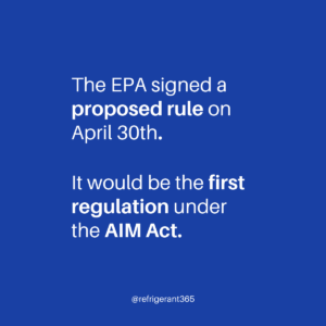 On April 30, 2021, the EPA signed a proposed rulemaking to address the production and consumption of HFCs; this would be the first regulation under the #AIMAct.  The rulemaking, among numerous things, proposes to: • establish the HFC production and consumption baselines; • establish an allowance allocation program; and • create an innovative #compliance and enforcement system.  According to an EPA press release on May 3, comments will be accepted on this proposed rule for 45 days after its publication in the the Federal Register (FR). There will also be a public hearing.