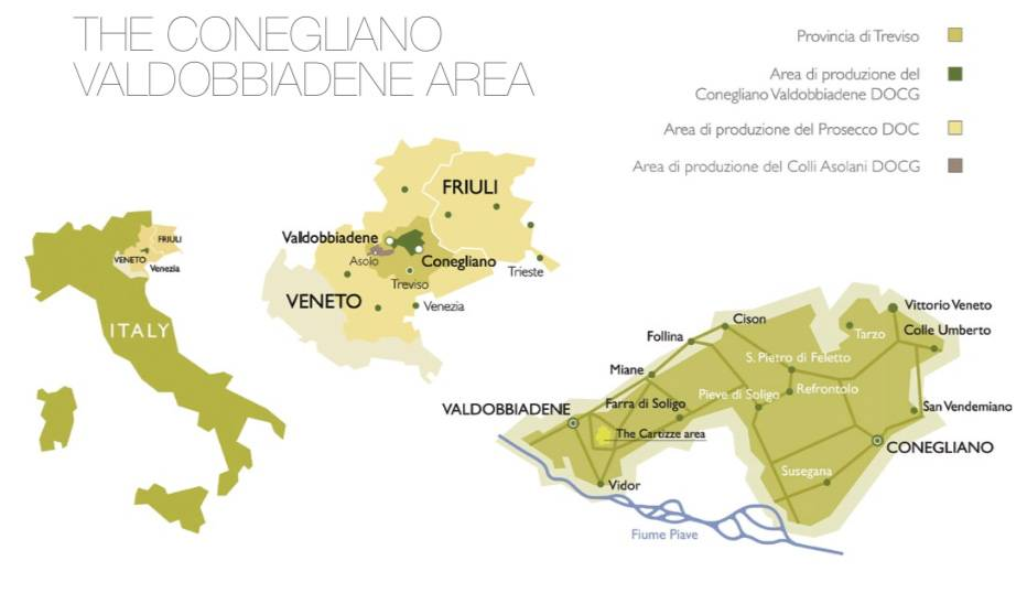 The Conegliano Valdobbiadene area