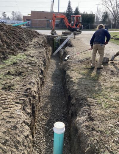 digging a waterline