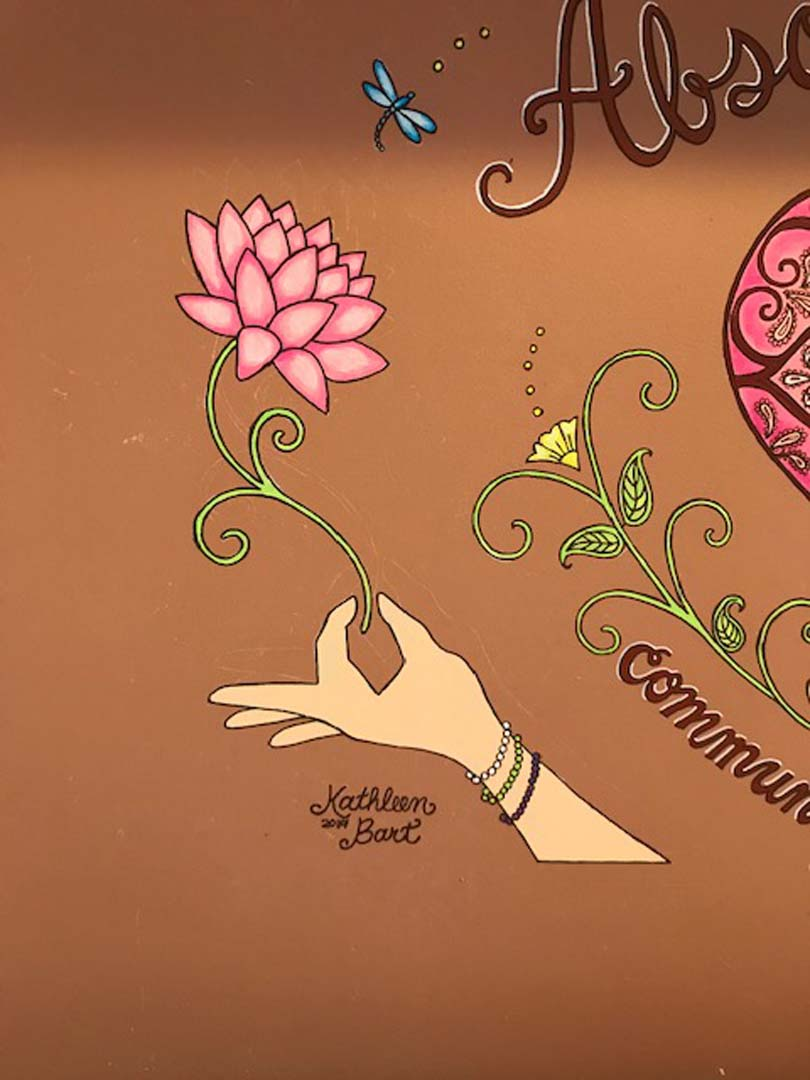 Mehndi Inspired Mural - Absolute Yoga, Woodbury, NY