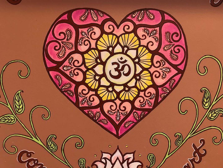 Mehndi Inspired Mural - Absolute Yoga, Woodbury, NY
