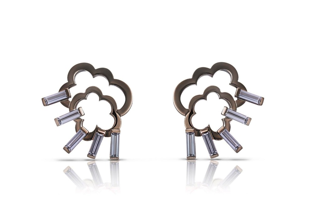 Black Blizzard Cloud earrings in 18k white gold with black rhodium and 1.7 cts. t.w. spinels, $10,100; email info@corasheibani.com for purchase