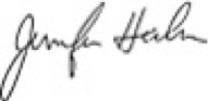 Jennifer Heebner signature