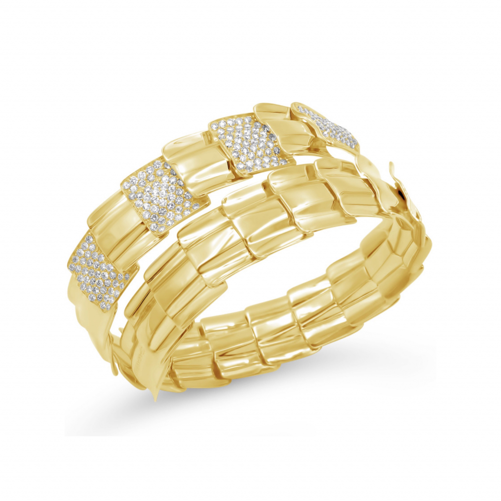 A bracelet in 18k yellow gold with diamonds from the Drago collection by Garavelli