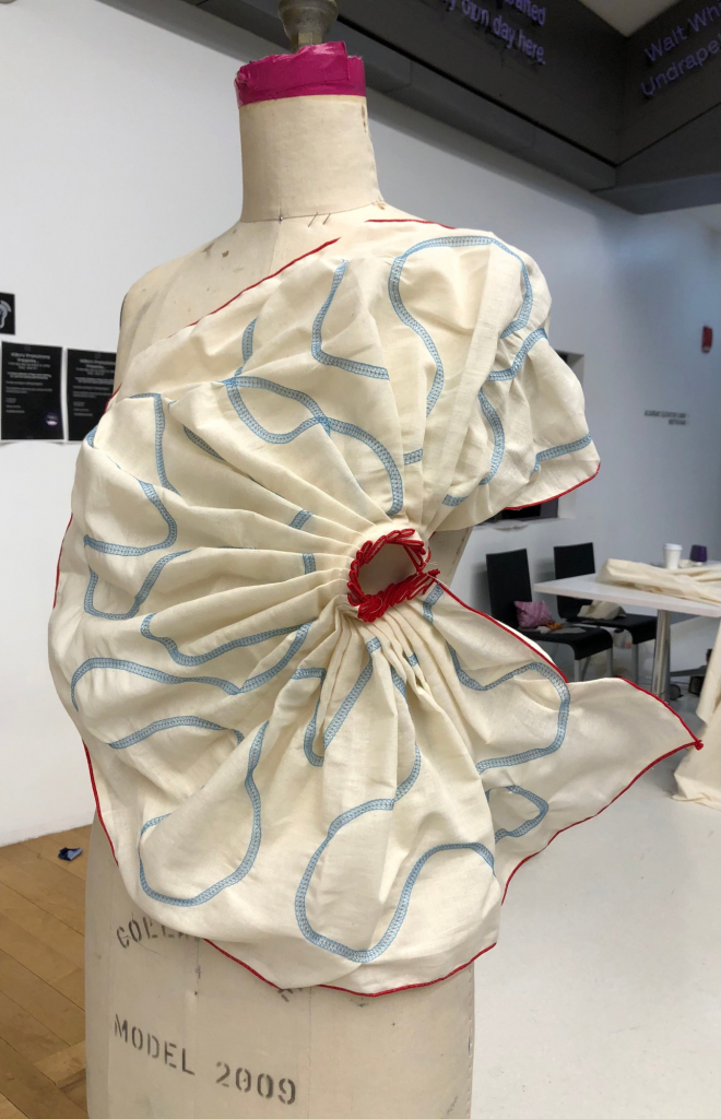 Aparna Sarogi: A drape from my personal archive reflects how fabric sits and molds itself onto the body.