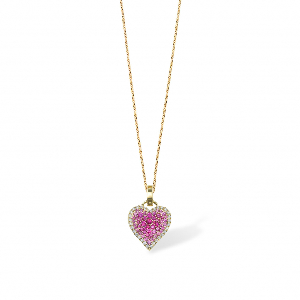 Fortune heart charm (chain not included) in 18k gold with sapphires and diamonds, £3,480; available online at Robinson Pelham
