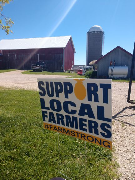 support local farmers sign